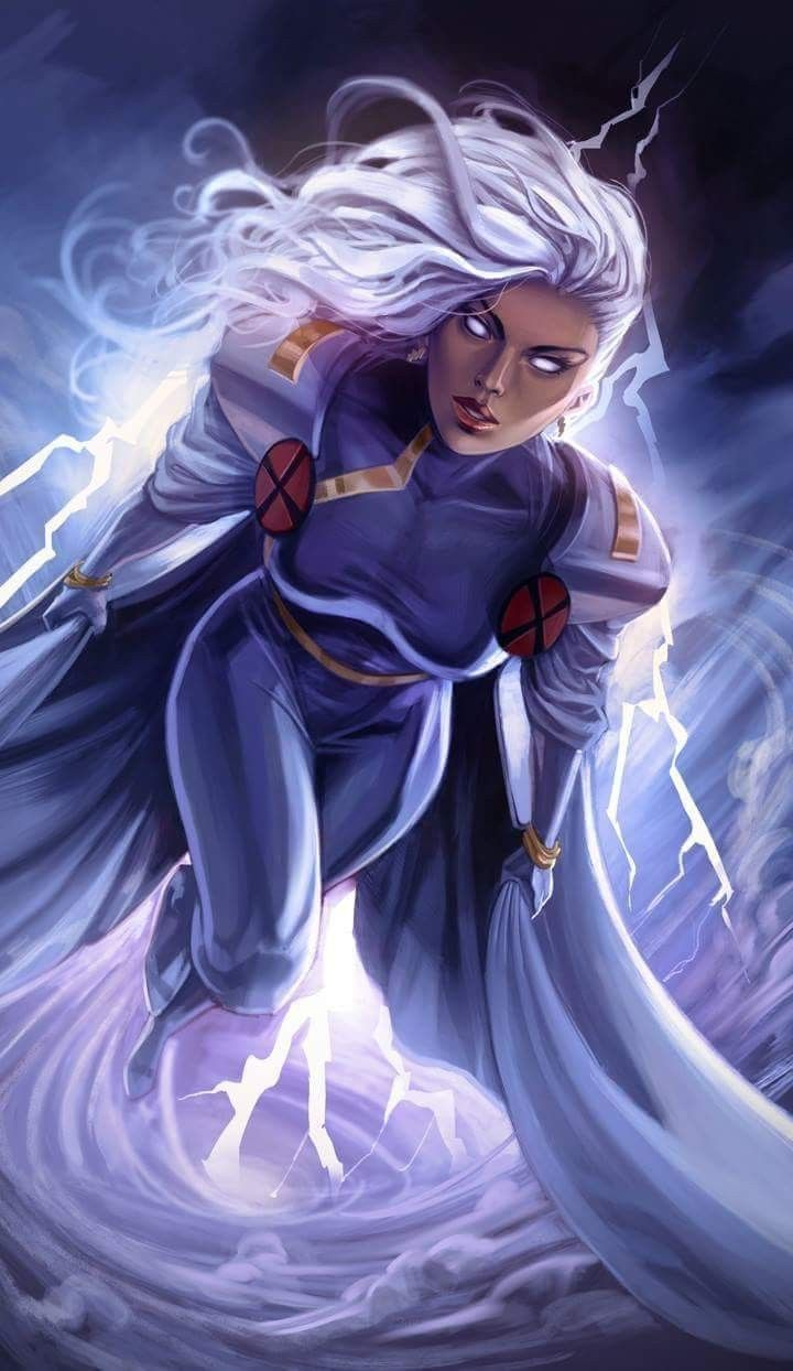 The Lightning Queen Marvel Comics Art Storm Marvel Marvel