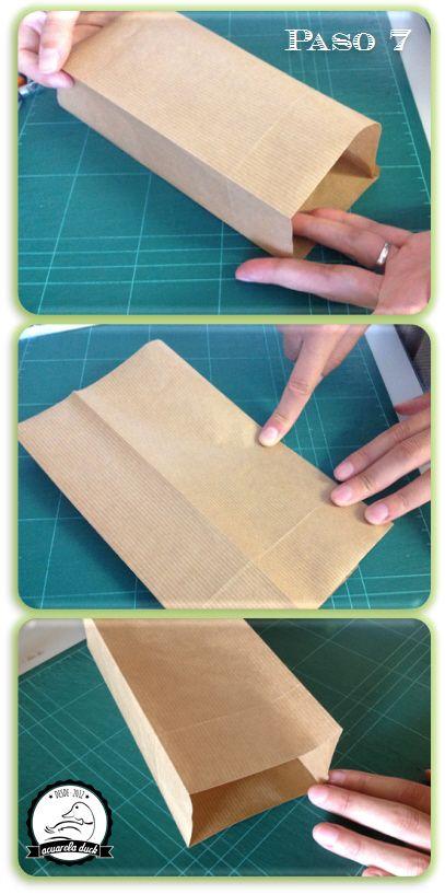 Diy bolsitas papel kraft manualidades bnpt sobre - Hacer bolsas de papel para regalo ...