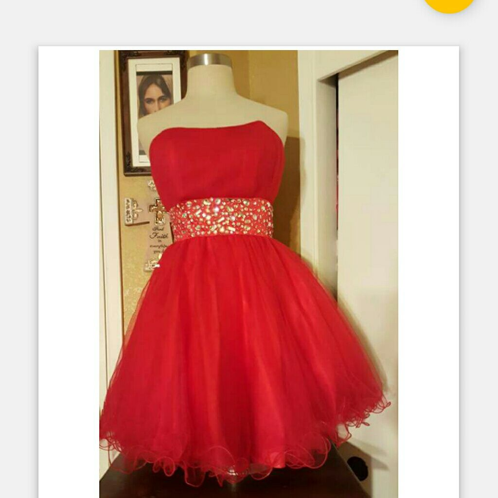 Formal short puffy dress products