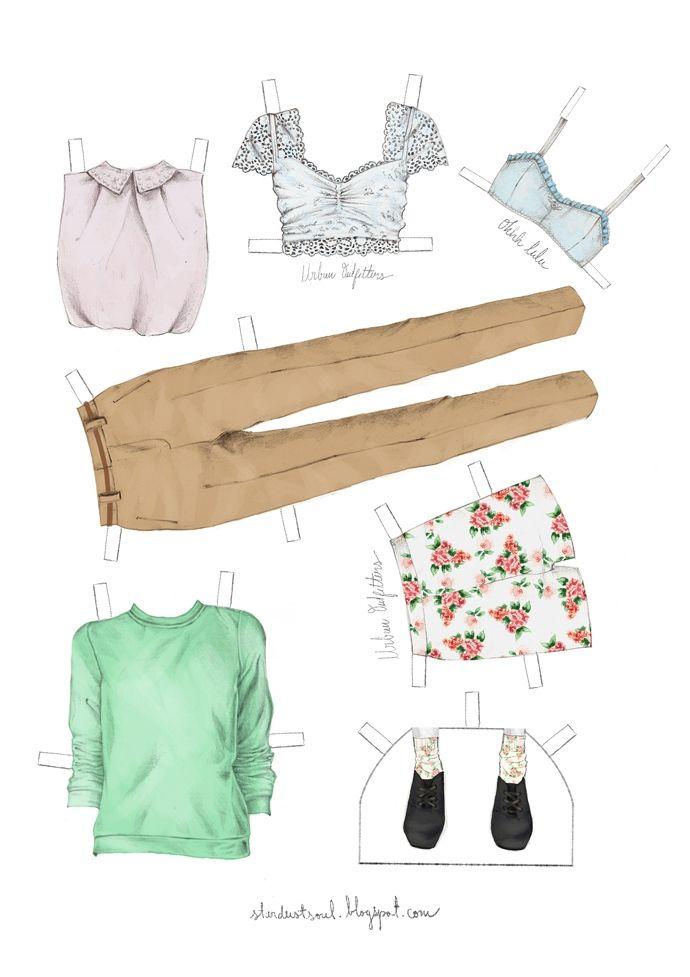 Бумажная кукла для взрослых девушек (трафик) | Бумажные ...