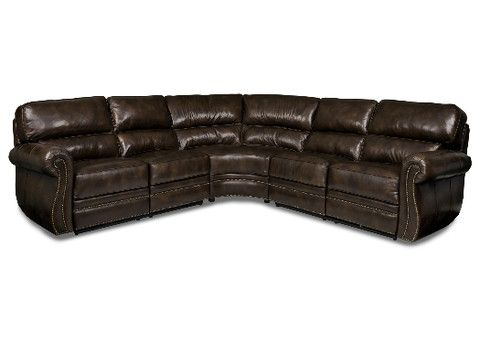 Woodlands Leather Sectional By Randall Allan