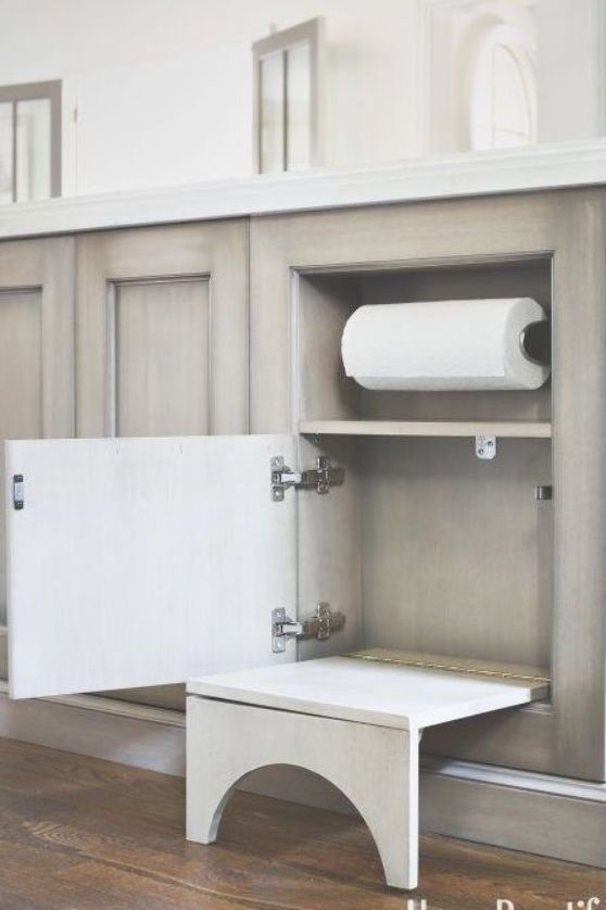 a niche in the kitchen island keeps paper towels close at hand also built in a collapsible on kitchen island ideas kids id=36792