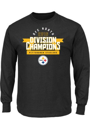 9a8a058ea0194e Nike Pitt Steelers Mens Black Division Championship Tee | NFL ...