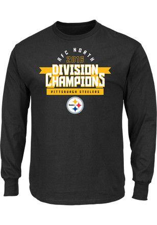 85b87bea414a Nike Pitt Steelers Mens Black Division Championship Tee