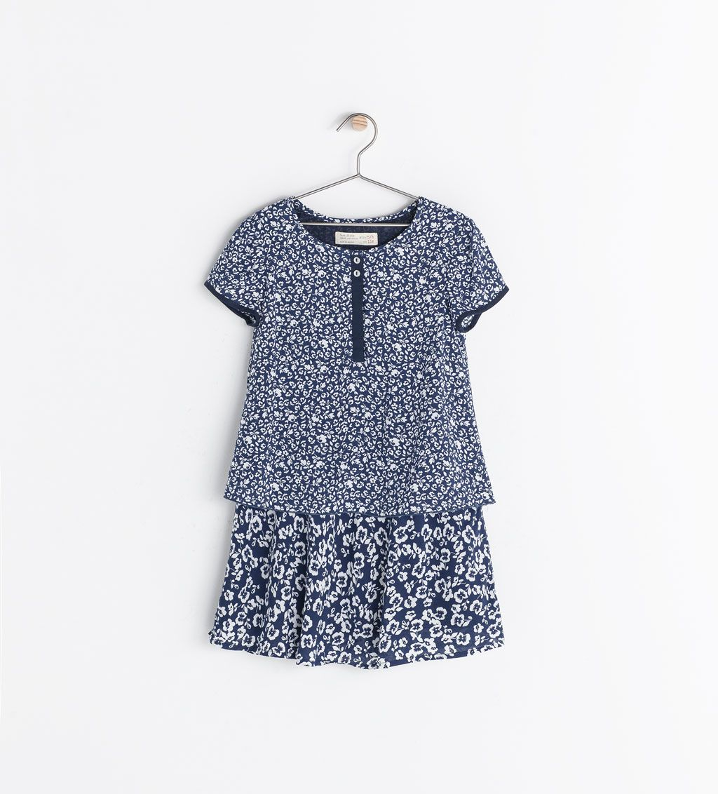 Image of combined printed dress from zara florals smallditsy