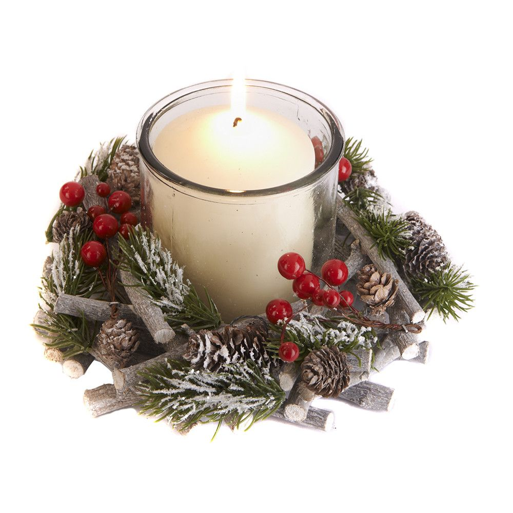 Add The Finishing Touch To Your Festive Table Setting With This Glass Twig Round Candle Holder From Amara In A Charming Winter Woodland The Christmas Candle Holders Christmas Decorations Christmas Candle