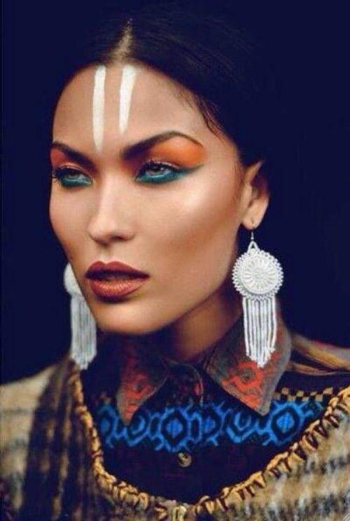 Imágenes inspiradoras y oportunas para la pintura facial de los nativos americanos  – Maquillaje