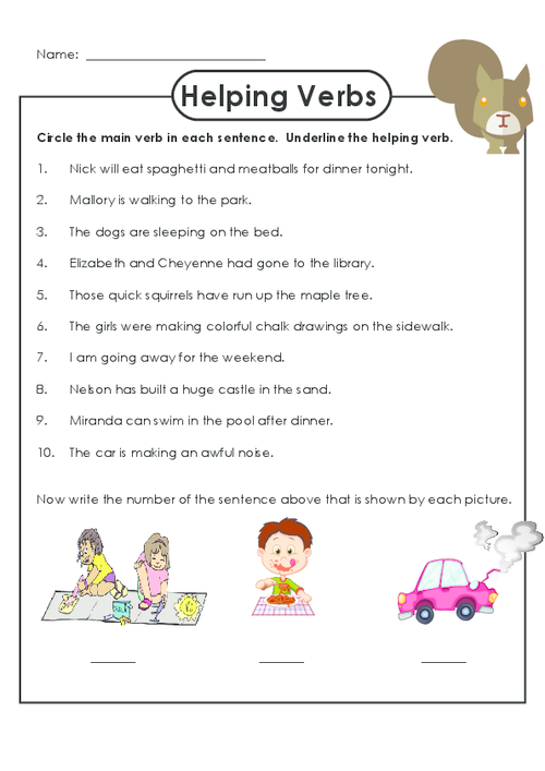Practice identifying helping verbs with this free worksheet – Main and Helping Verbs Worksheets