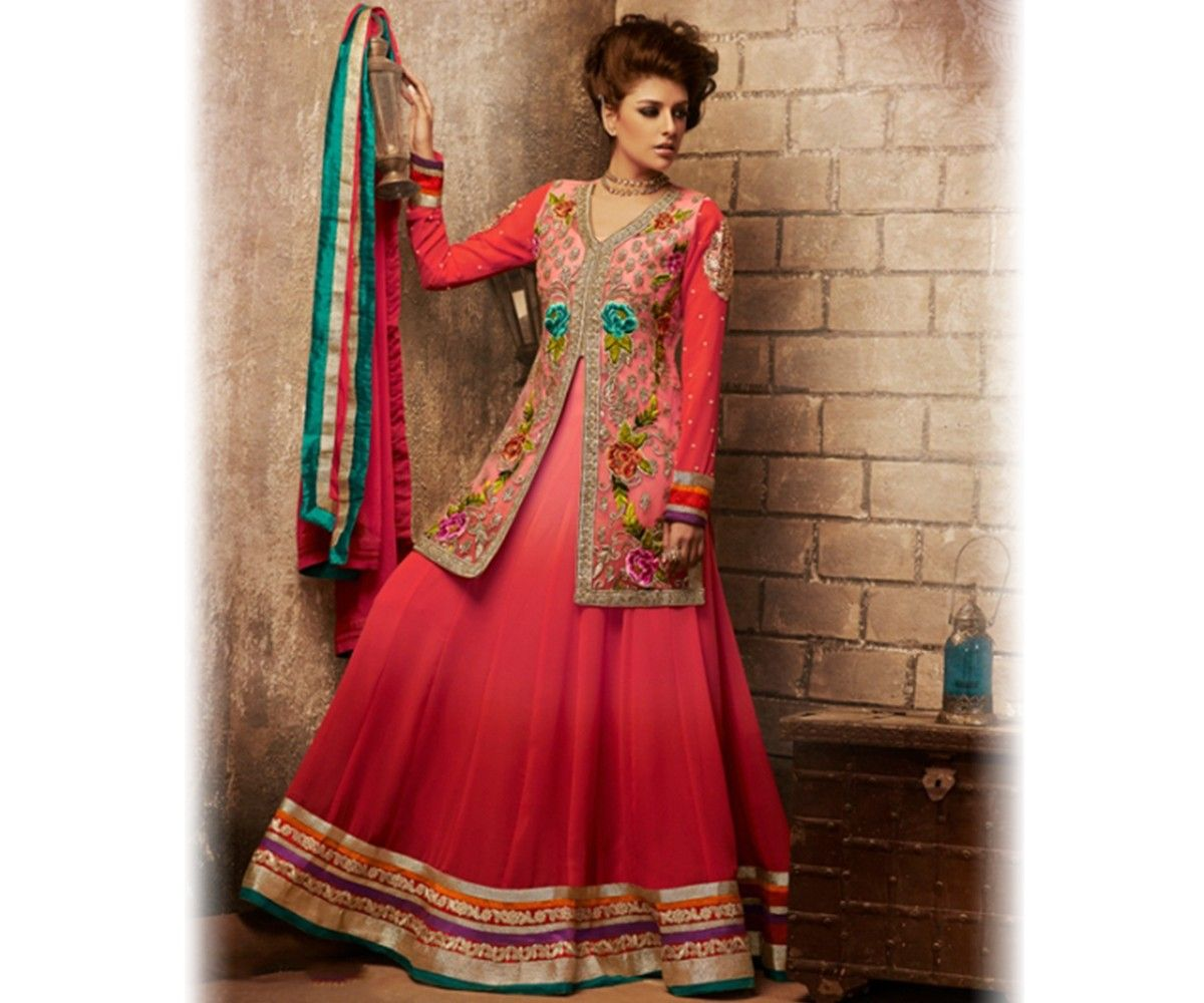 9f5464873ed Latest Indian Jacket Style Dresses & Gowns Anarkali Suits 2014-2015 for  Girls | GalStyles.com