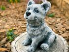 Concrete Dog Statue Cute Little Dog Stone Dog Figure Garden Art Garden Ornament The individual garden planning with stones on the Basis of royal Bonsai and Solitaire plan...