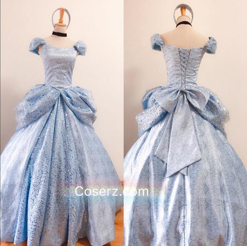 Cinderella Enchanted Princess Dress Gown Costume Disney Blue InCharacter 1053