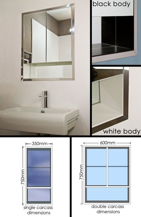 Span Style Color 000000 Recessed Built In Bathroom Mirror Cabinet 62a Span Bathroom Mirror Cabinet Mirror Cabinets Lake House Bathroom