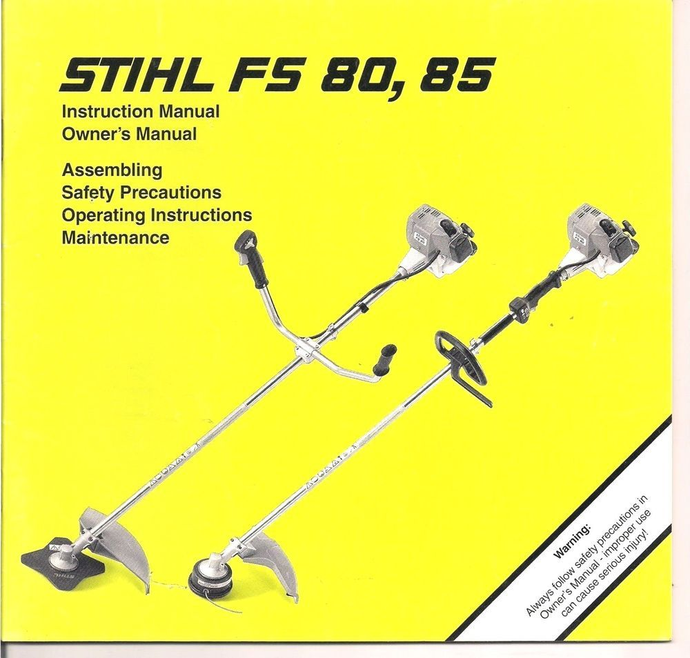 Stihl Fs Fs Instruction Owners Assembly Maintenance Operating