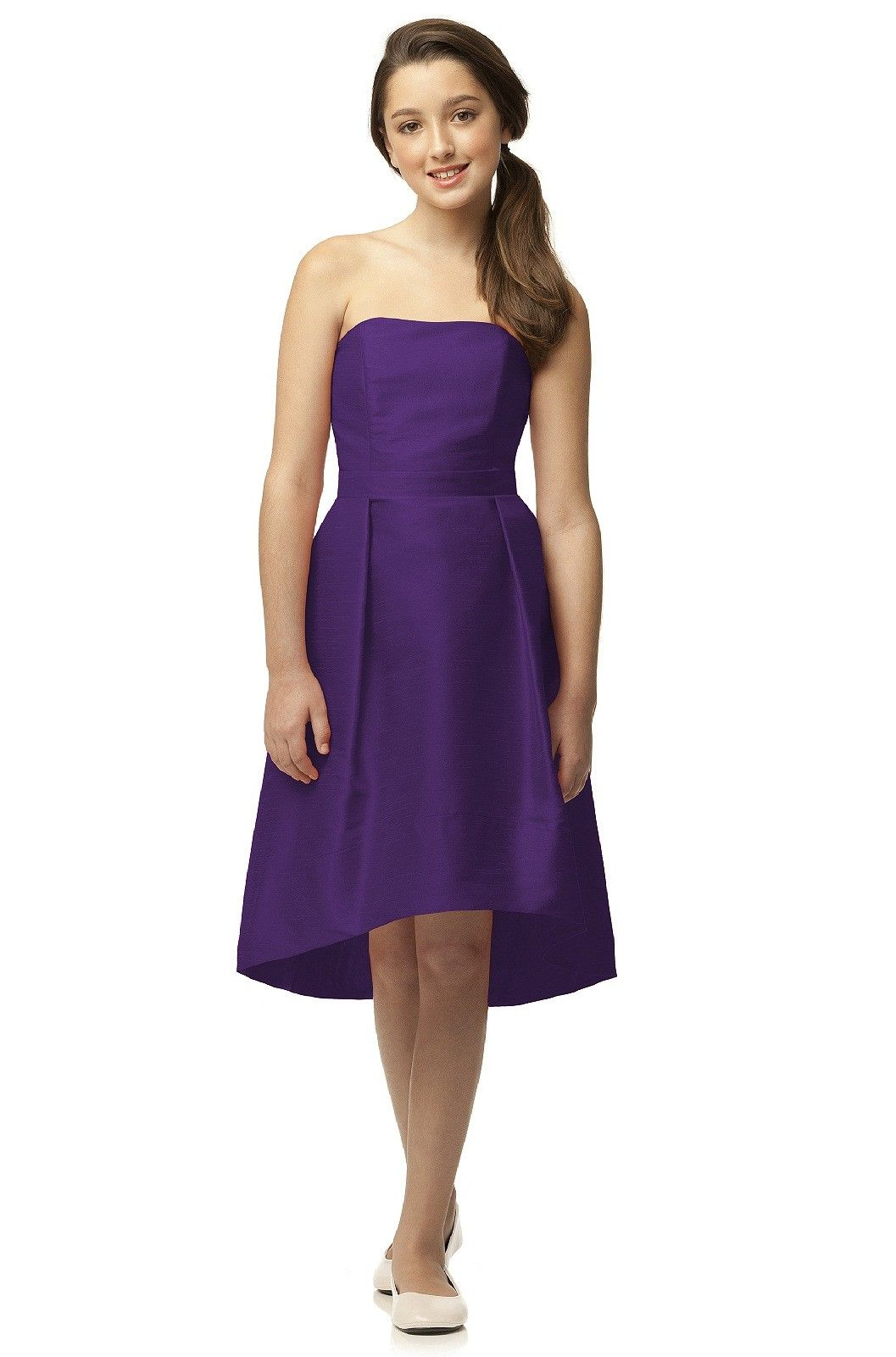 Shop dessy junior bridesmaid dress jr516 in peau de soie at find the perfect made to order bridesmaid dresses for your bridal party in your favorite color style and fabric at weddington ombrellifo Image collections