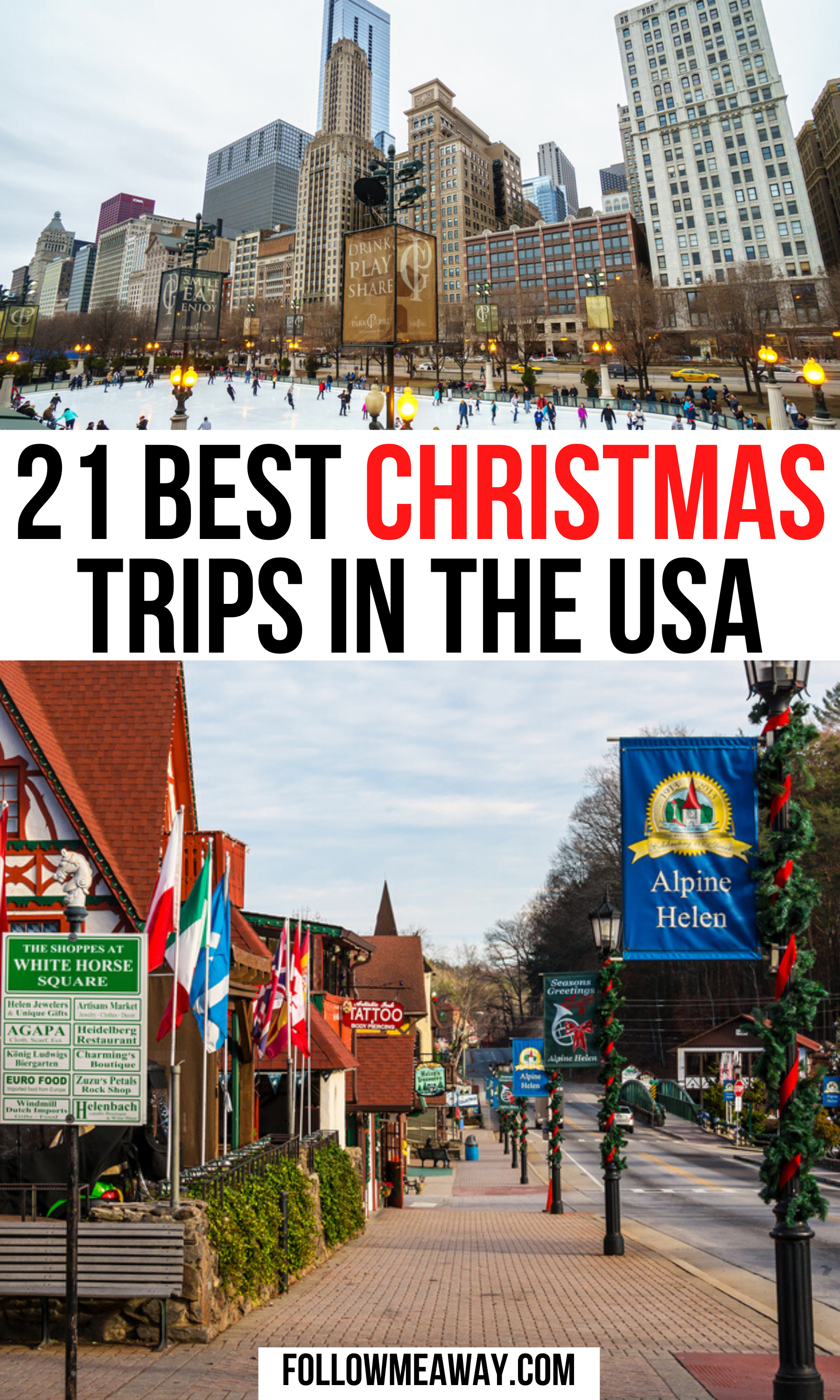 21 Best Christmas Trips in America -   19 holiday Destinations usa ideas