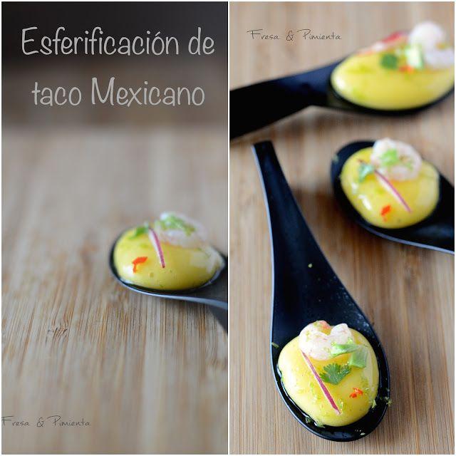 Esferificacion De Taco Mexicano Gastronomia Comida Para Fiesta