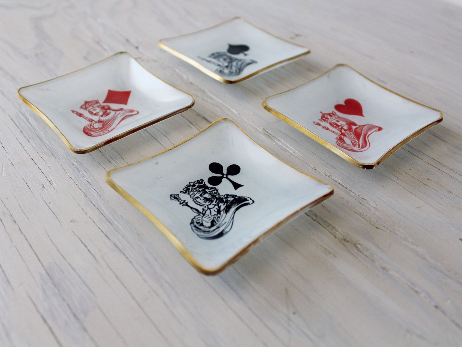 Show off your love of card games with unique style! King of Diamonds and King of Hearts Rings made with Playing Cards and Resin