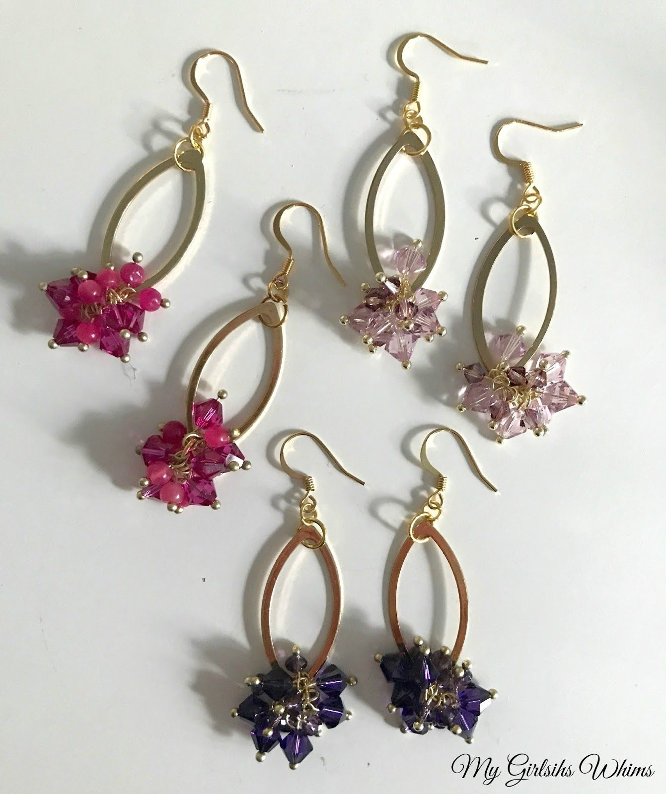 These Diy Crystal Cer Earrings Are A Beginner Jewelry Project That Look Professionally Made But