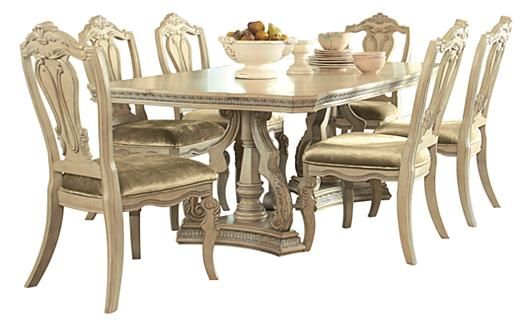 Ortanique Dining Table  This Is It With Insert Seats 8Ashley Glamorous Dining Room Sets Ashley Furniture Design Inspiration