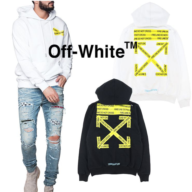 2001df2590e0 Off-White 2018 SS Crew Neck Pullovers Sweat Street Style Long Sleeves (OFF  WHITE