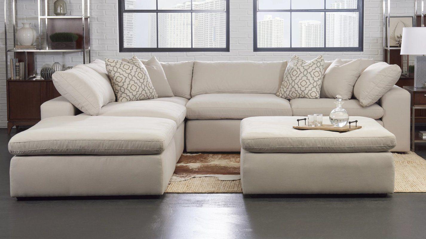 Kadence 133 Symmetrical Modular Sectional With Ottoman Cheap Living Room Furniture Living Room Furniture Furniture