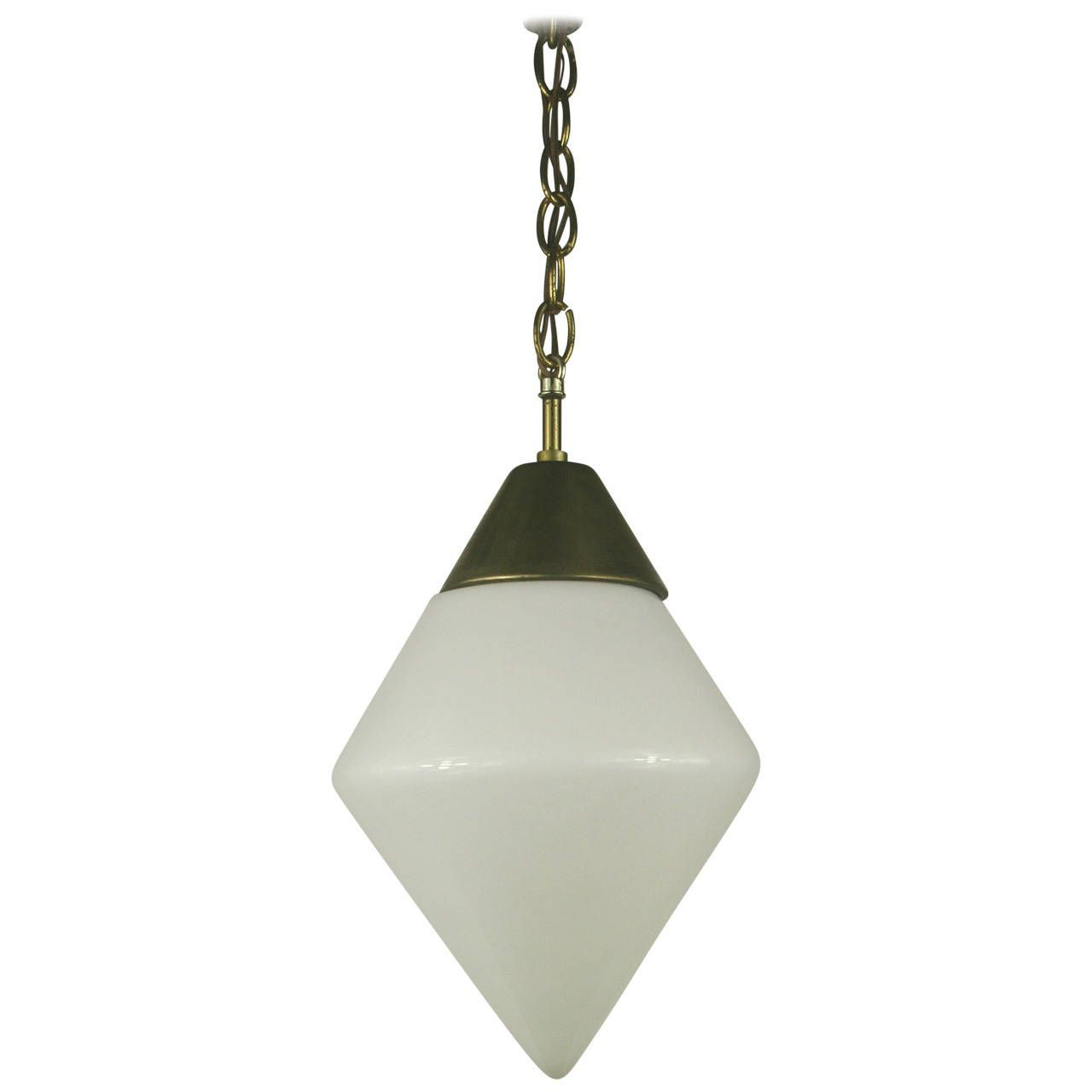 Milk Glass Pendants, Three Available   From a unique collection of antique and modern chandeliers and pendants  at https://www.1stdibs.com/furniture/lighting/chandeliers-pendant-lights/