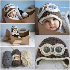 Crochet Aviator Hat Free Pattern. Patron gratuit de bonnets de bébé  originaux. Casque d ce9e10688bc