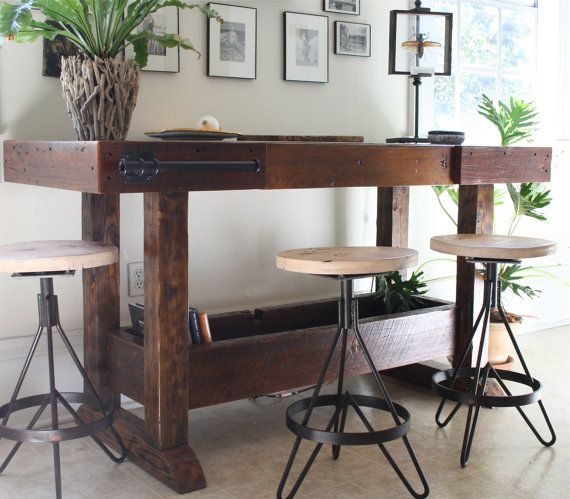 The Earhart Stool-Industrial Modern Barstool Made with Reclaimed ...