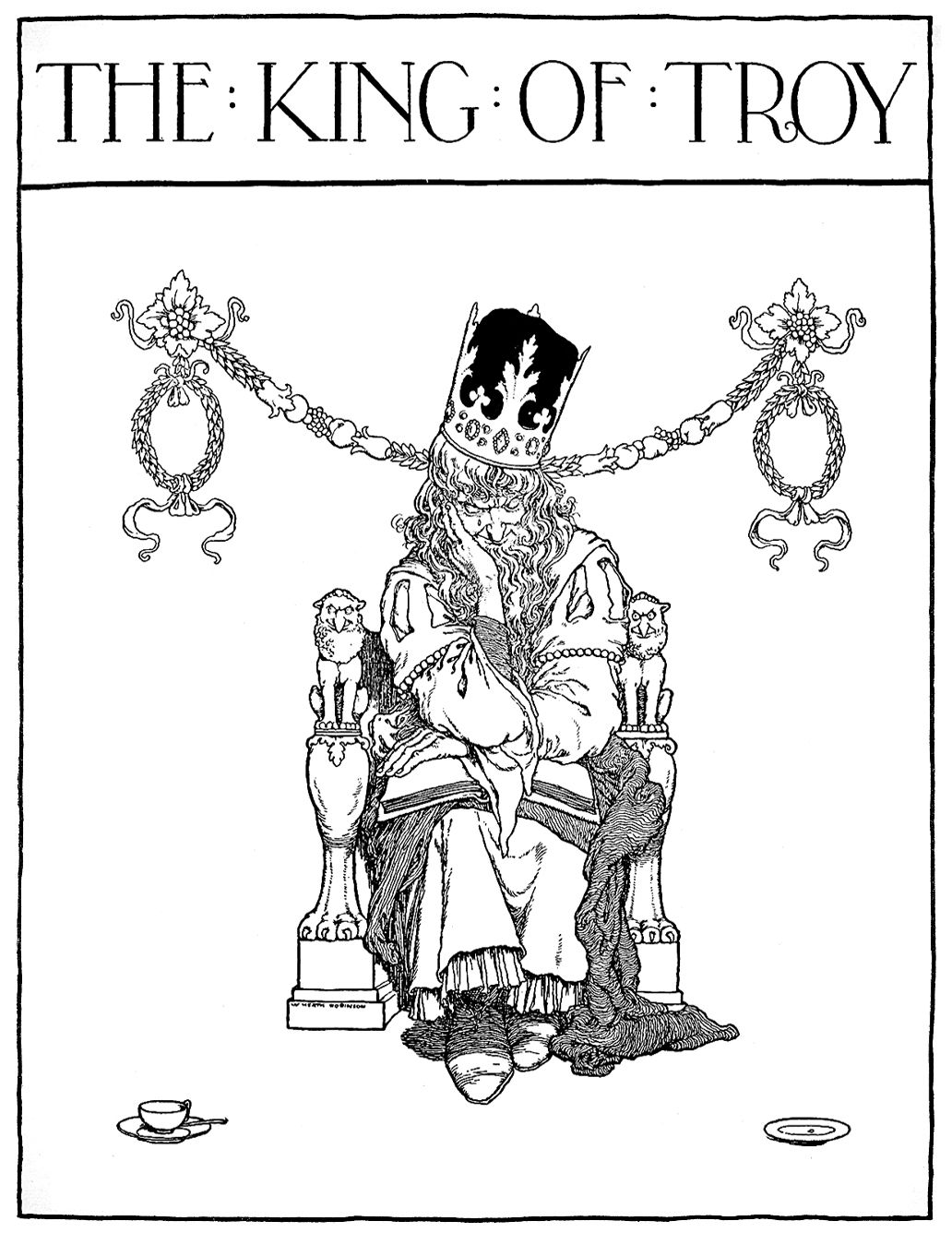 """Title page. 'The King of Troy' from """"Bill the Minder"""