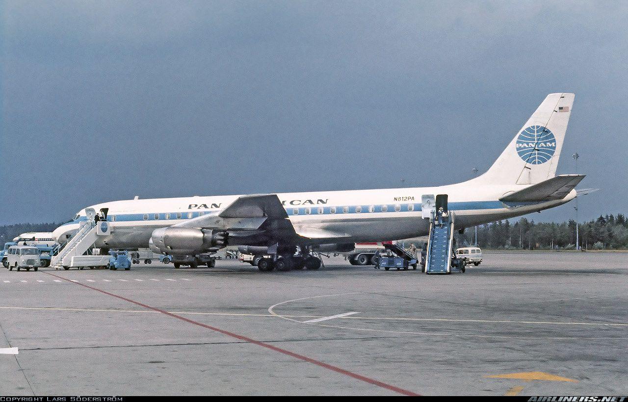 N812PA, Douglas DC832, Jet Clipper Blue Jacket, at