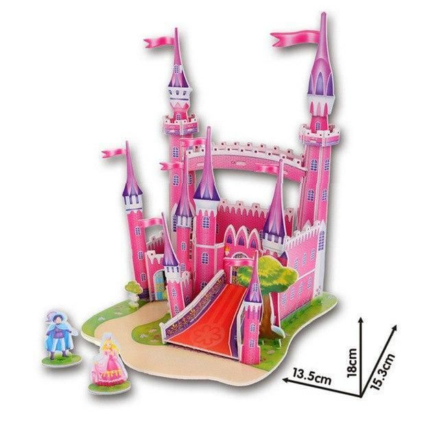 Pink Princess Castle 3D Puzzle | Baby learning toys, Diy ...