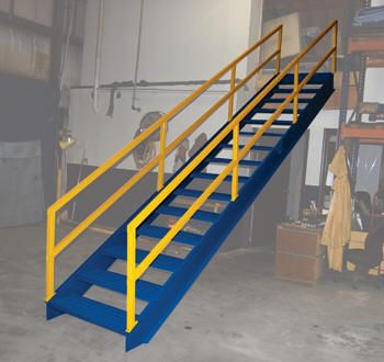 Commercial Crossover Ladders Discount Sales Dealer Material Handling Equipment Product Information Modular Style Stairway Stairways Modular Installation