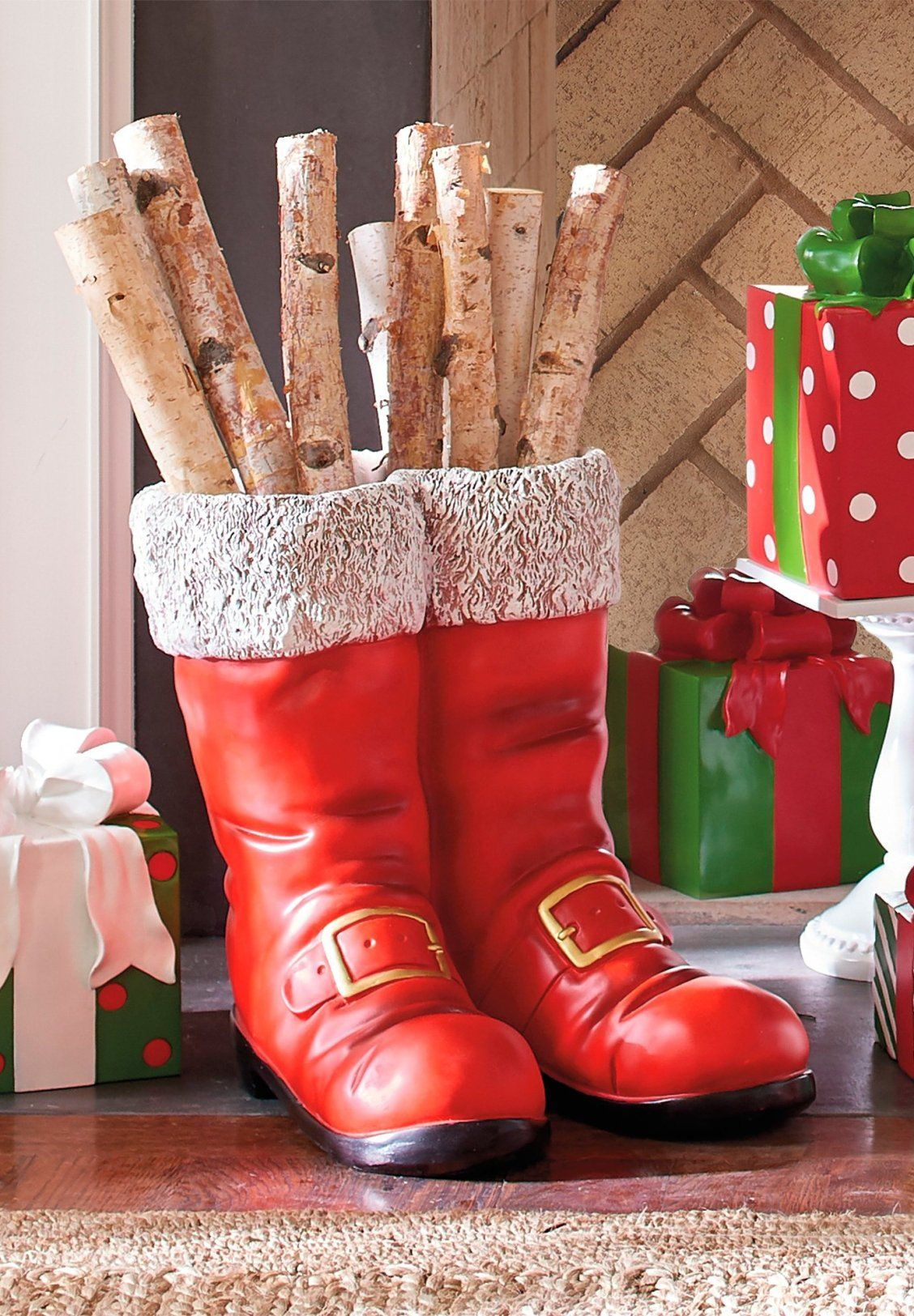 Oversized Santa Boots Grandin Road Santa Boots Indoor Christmas Decorations Outdoor Christmas Decorations