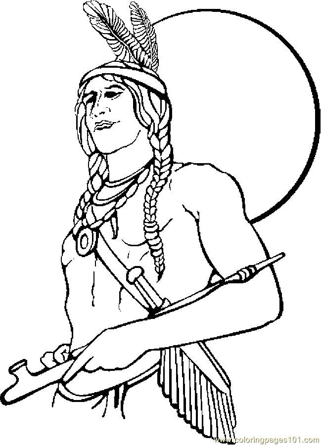 free printable coloring image Native American 1  My coloring