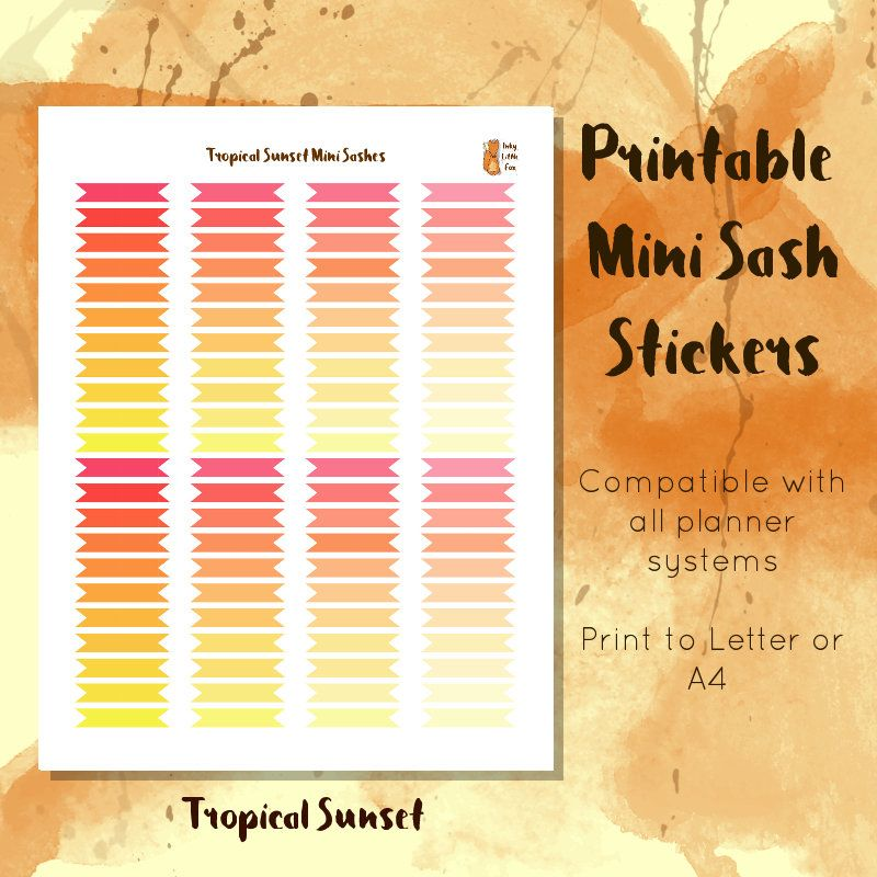 Printable Sash or Banner Stickers // Decorative Planner