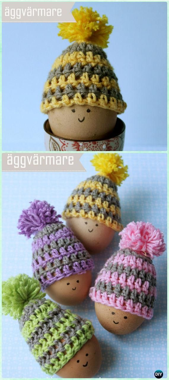 Crochet Simple Easter Eggs Hat Free Pattern - Crochet Easter Egg ...