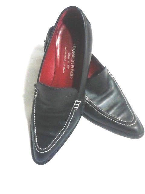 56b7ef6d657 DONALD J. PLINER~ TOYA~ Women s Black Leather Slip On Size 6.5M   DonaldJPliner  SLIPONS  ALL