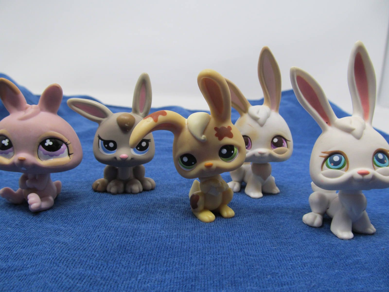 5 Littlest Pet Shop Bunnies Retired Lps Vintage Littlest Pet