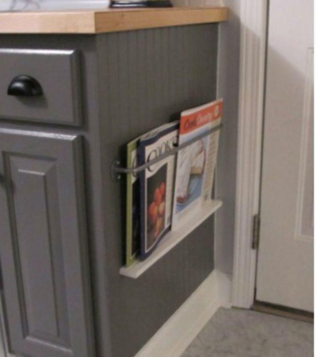 Crea espacios para guardar las revistas