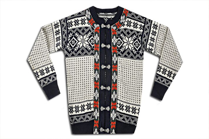 Norwegian knit sweater. I am knitting one of these someday.