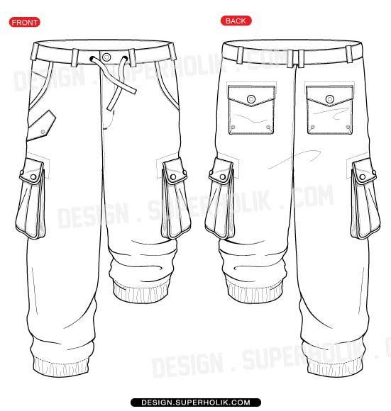 fashion design templates vector illustrations and clip artscargo pants vector template
