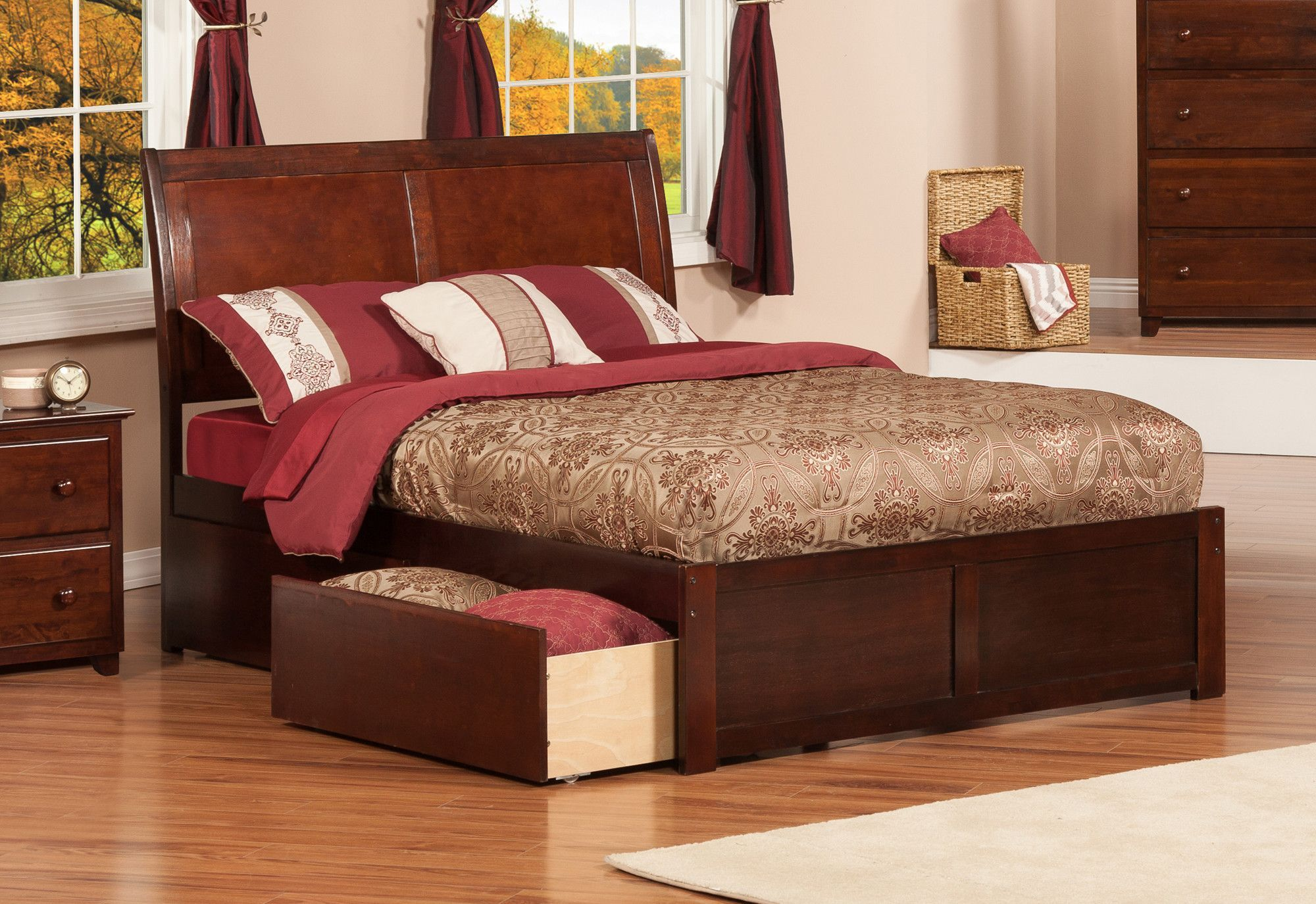 porter oh furniture ashley sleigh dealer store mood bed drawers storage queen b mentor product with best