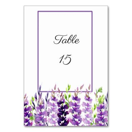 #Paars Bruiloft Aquarel Lavendel Tafelkaarten – #bloem #geschenken #bloem #bloem …