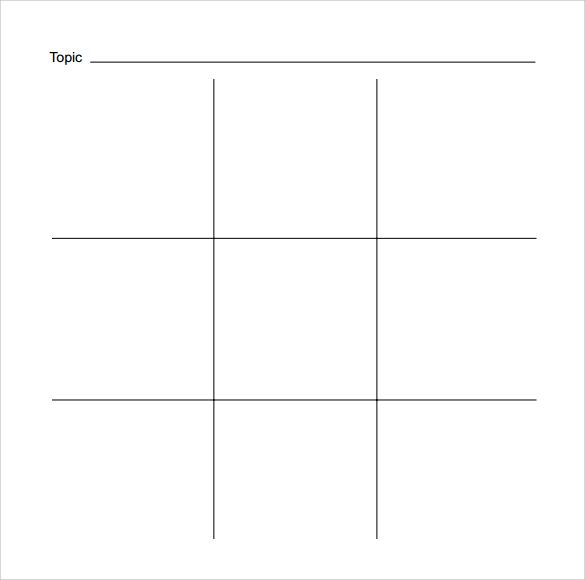 Tic Tac Toe Template Free Download  So Crafty Vbs Party