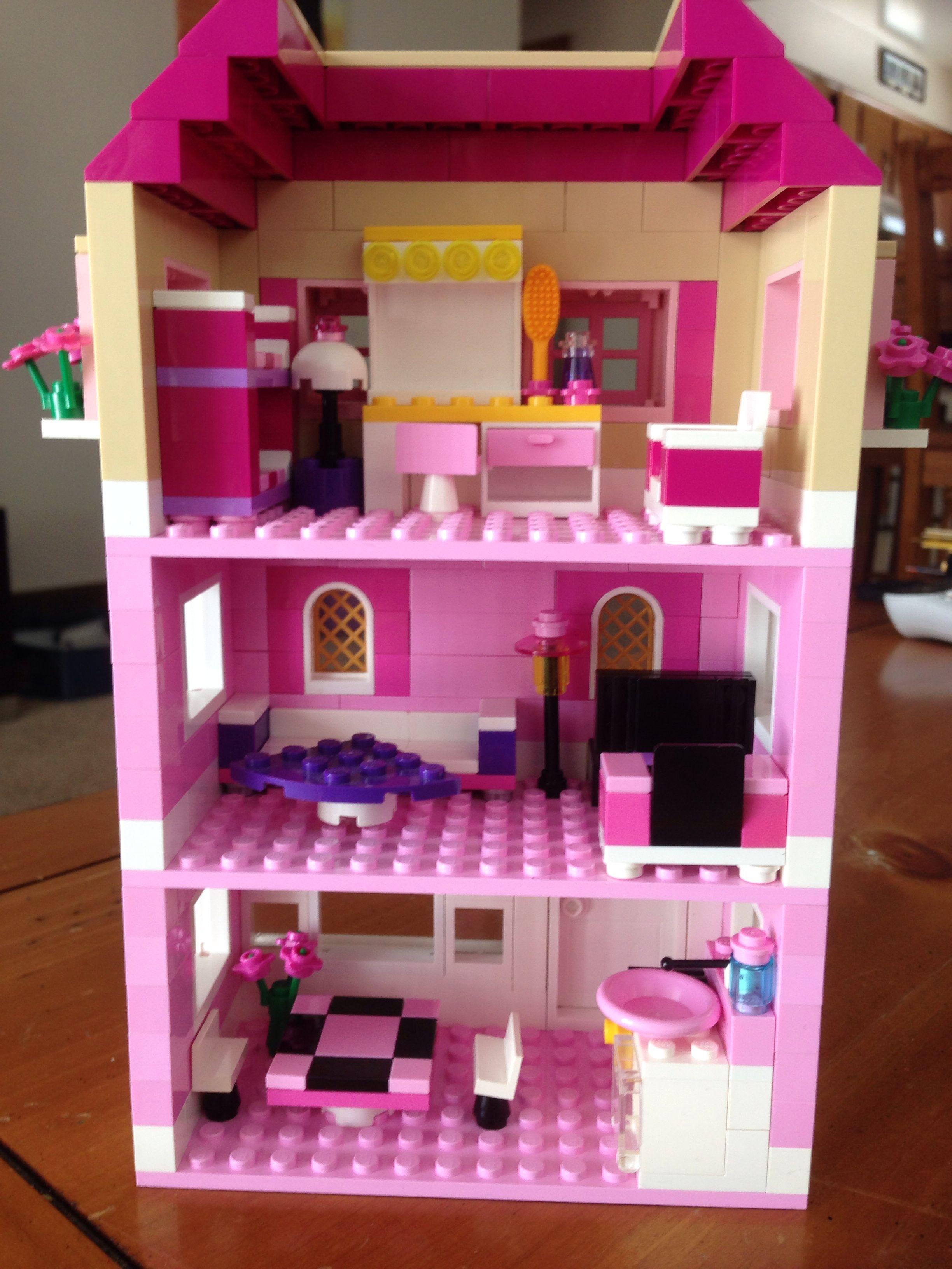 Lego House Back Lego House Lego Girls Lego Creations
