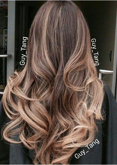 Chocolate Brown Ash Balayage Ombre Hair  Hair And