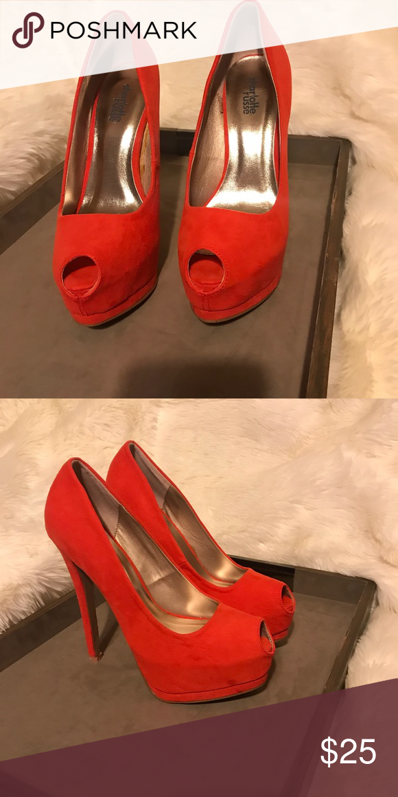 5741845e16a3 New Charlotte Russe Heels! Beautiful color heels Charlotte Russe Shoes Heels