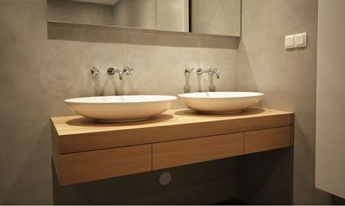 Dubbele wastafel in de badkamer interieur inrichting idee n voor het huis pinterest - Badkamer inrichting ...