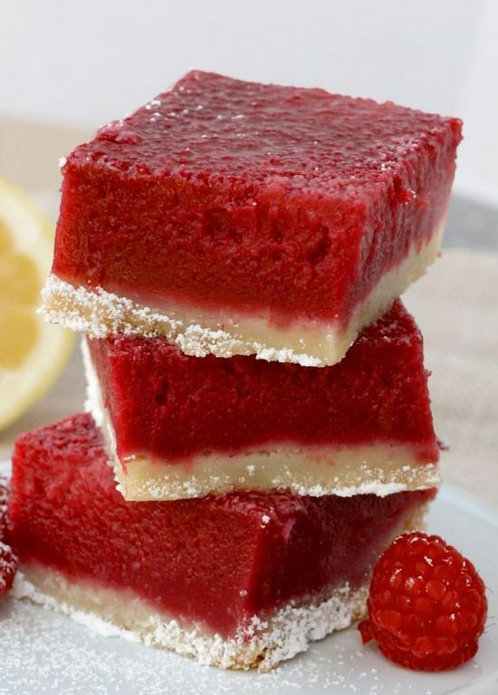 50 Brownie and Bar Recipes Raspberry Lemonade Bars. Tangy, vibrant, subtly sweet with a rich, buttery crust. These raspberry lemonade bars are the perfect summer dessert. #raspberrylemonade