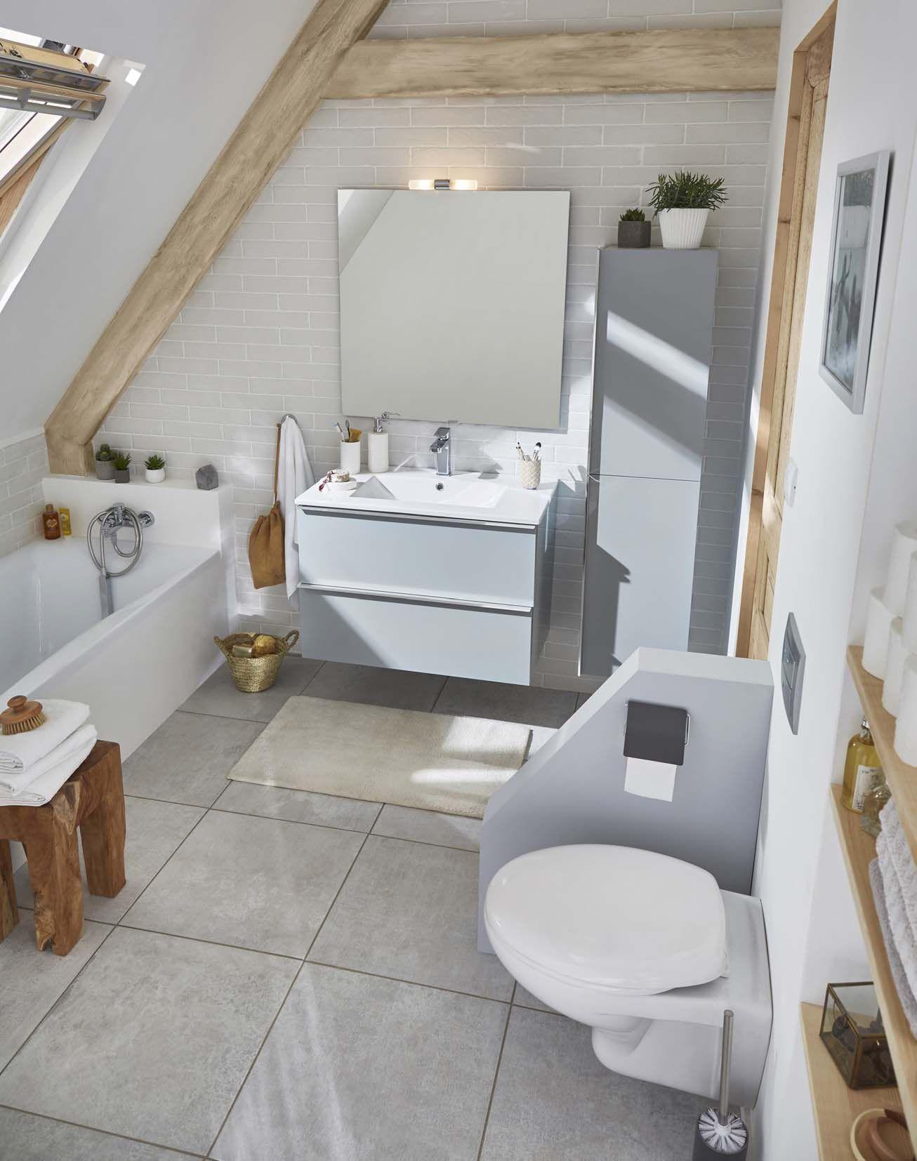 Baignoire Sous Les Combles ensemble de salle de bains aqua laqué cooke & lewis ohla 80
